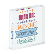 This Is What An Awesome Groomsman Looks Like Acrylic Photo Block Frame Wedding