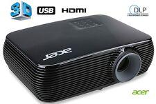 ACER 3D DLP Projektor Beamer 20000:1 3300 ANSI Lumen HDMI VGA S-VIDEO USB P1186