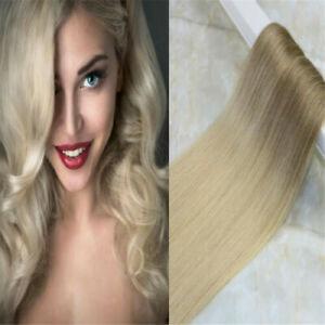 12A Russes Ruban En Cheveux Extensions 8 #/613 # Balayage Ombre 40Pcs 100g Droit