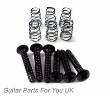 BLACK Electric Guitar single coil pickup screws and springs ST TL LP electric