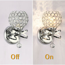 2PCS E12 Crystal Modern Wall Light Sconce Loft Bedroom Bedside Indoor Decor Lamp