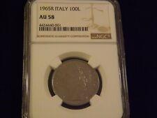 1958 R      Italy 100 Lire     NGC  AU58