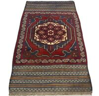 Oriental Afghan Persian Hand Knotted Wool Rug Carpet,Floor Room Decor 147x86