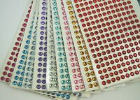 6MM Round Gemstone 228 Pcs Self Adhesive Acrylic Rhinestones Stickers