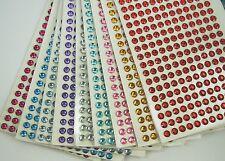 6MM Round Gemstone 228 Pcs Self Adhesive Acrylic Rhinestones Stickers