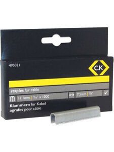 CK Tools Cable Staples - Half Round 7.5 x 10mm (T495021)