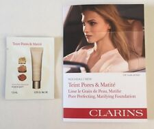 5 x Clarins Pore Perfecting Matifying Foundation 03 Nude Amber 1.5ml ea (7.5ml)