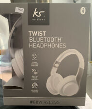 Kitsound Twist Wireless Headphones Bluetooth iPhone Apple Samsung - White NEW