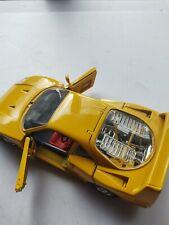 FERRARI F40 Yellow 1/18 Scale Made In Italy Burago DIECAST Car