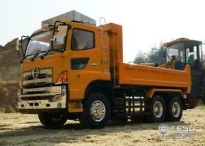Hydraulic Dumper LESU RC Hino 6*6 Truck Servo Motor ESC DIY 1/14 TAMIYA Painted