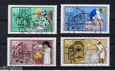 GERMANIA 4 FRANCOBOLLI PRO GIOVENTU PROFESSIONI 1986 usato