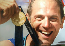 STEVE REDGRAVE - OLYMPIC ROWING LEGEND  - BRILLIANT COLOUR PHOTOGRAPH