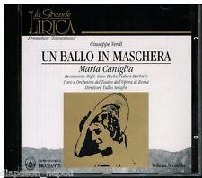 Verdi: Un Ballo In Maschera / Serafin, Caniglia, Gigli, Barbieri, Bechi - CD