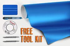 Vvivid 7.5M x 1.52M matte metallic blue vinyl car wrap wrap and toolset