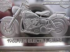 1.4-OZ.999  SILVER 1965 ELECTRA FLH 2ND EDITION ANNIV BAR HARLEY DAVIDSON + GOLD