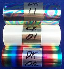 "Kingsley Hot Stamping Foil - 3"" x 95' - 3 Roll pk - Special Effects + Canister"