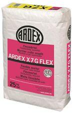 Ardex X7 G FLEX Flexmörtel Fliesenkle. 25kg -Wasserfest,Frostbeständig,Flexibel-