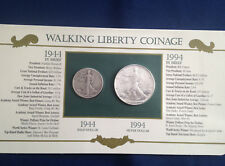 1944-1994 Walking Liberty Half Dollar American Silver Eagle Collection  E5382