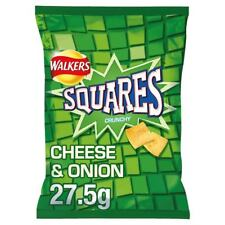 Walkers Squares Cheese & Onion Square Crisps - 16x 27.5g Bags UK SAVOURY SNACKS