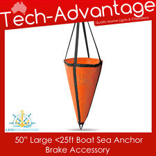 LARGE BOAT YACHT PVC SEA ANCHOR BRAKE DROGUE - SUITS UP TO 25FT - 1.25M x 1.25M