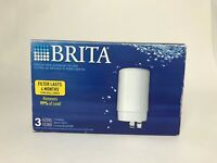 Brita 3-PACK Replacement WATER FILTER FAUCET FILTRATION SYSTEM New! FR-200 WOW!