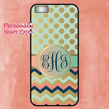 Mint Coral Gold Phone Case compatible with iPhone 6 Galaxy S5 Note 4