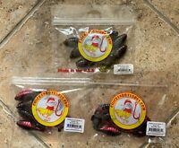 "3 1//2/"" Gobies 25 pack 5145 Venom Lures Watermelon Purple Glitter"