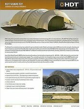 US MILITARY BASE-X Tent AirBeam Shelter SHADE FLY Commerial Mesh - 22'x55'x10'