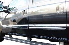 """17-18 Ford F-250 F-350 Super Duty (Crew-Cab) Chrome Body Side Molding - 2"""" Width"""