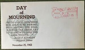 USA stamp 5c Day of Mourning Jonh F.Kennedy FDC New York nov 25 1963