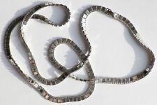 collier bijou vintage signé MONET maillon double carré couleur argent * 3288