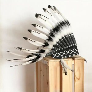 Native American Headdress Kids Adults Indian Style Headdress for Party Props