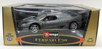 Burago 1/18 Scale Diecast 3382 Ferrari F50 1995 Coupe Metallic Grey