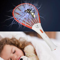 Rechargeable LED Electric Fly Mosquito Swatter Bug Zapper Racket Insect Killer
