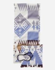Pendleton Travel Set Silver Bark Throw Blanket Eye Mask And Pouch NEW