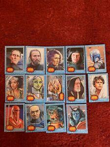 TOPPS STAR WARS LIVING SET CARDS x 14
