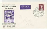 Germany Berlin 1957 Airmail  Plane Slogan Cancel Stamps Cover Ref 24445