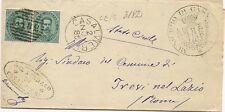 P7153   Caserta, Casalvieri, annullo numerale a sbarre 1885