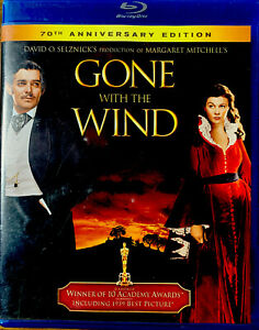 Gone With the Wind (Blu-ray Disc, 2010, 70th Anniversary Edition) Free Shipping