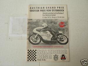 1974 AUSTRIAN GRAND PRIX MOTORRADER 4 MAI SALZBURGRING BRAUN,LAVERDA SFC,PUCH