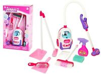 Girls Cleaning Vacuum Cleaner Hoover Fun Role Play Toy PINK with Light Sound