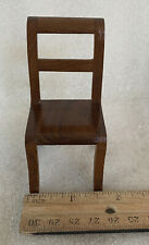 Miniature Dollhouse Handcrafted 1:12 Stained Wood Dining Side Chair
