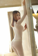 Women Zipper See Through Mesh Catsuit / Jumpsuit  Long Sleeve BODYSUIT  Clubwear