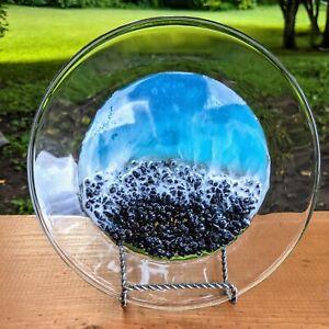Ocean Waves Decorative Plate Trinket Ring Dish Epoxy Resin Home Decor