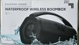Sharper Image Wireless Bluetooth Boombox Speaker IPX7 Waterproof Bass Boost NIB