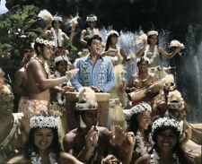ELVIS PRESLEY ROCKING IN BLUE HAWAII RARE PHOTO
