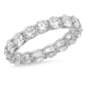 Make Your Own Round Cut Diamond Eternity Band! Custom metal & diamond size!