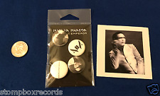 SEALED SET of(4)Marilyn Manson Pale Emperor PROMO BUTTON PIN+STICKER