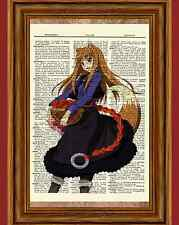 Spice and Wolf Dictionary Art Print Poster Picture Anime Holo Horo