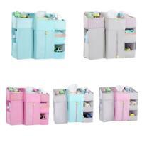 Baby Crib Cot Bed Storage Bag Hanging Pocket Diaper Practical Organizer Nap Q5A9